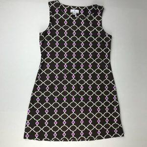 Jude Connally Brown Purple White Beth Shift Dress